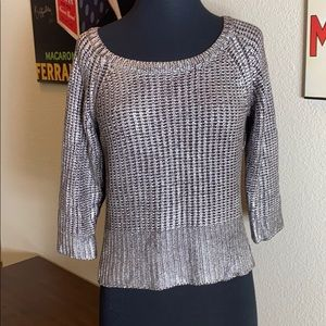 Bebe Silver and Brown sweater